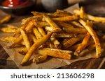 cajun seasoned french fries... | Shutterstock . vector #213606298