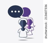 boy and girl with dialog speech ... | Shutterstock .eps vector #213607336