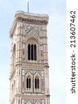 florence  italy june 11  giotto'... | Shutterstock . vector #213607462