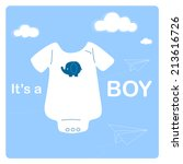 Baby Boy Shower Invitation Car...