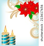 christmas candle decorate card...   Shutterstock .eps vector #213617656