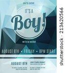 its a boy birth announcement... | Shutterstock .eps vector #213620566