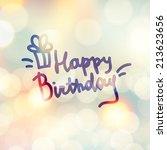 happy birthday  vector... | Shutterstock .eps vector #213623656