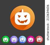 halloween pumpkin icon   Shutterstock .eps vector #213634606