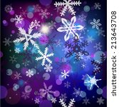 snowflakes background . vector  | Shutterstock .eps vector #213643708