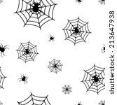 halloween pattern with spiders... | Shutterstock .eps vector #213647938