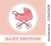 baby design over pink... | Shutterstock .eps vector #213652828
