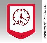 beautiful service work hours... | Shutterstock .eps vector #213662932