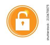 unlock icon. vector eps10