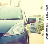 city car   instagram filter | Shutterstock . vector #213677026