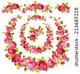 frame of the rose | Shutterstock .eps vector #213685228