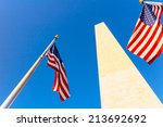 Washington Monument And Usa...