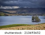Small photo of Loch Freuchie and The Crannog, looking across to Creag Bheag and Craig Hulich. Glen Quaich, is across the other side of the Loch and The Rob Roy Way, run either side of the Loch. Perthshire, Scotland.
