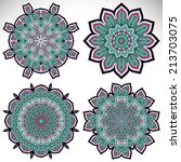 mandalas. round ornament... | Shutterstock .eps vector #213703075