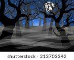 Vector Illustration Of A Dark...