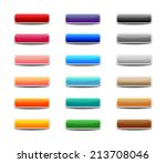 set of colored web buttons | Shutterstock .eps vector #213708046