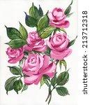 watercolor roses | Shutterstock . vector #213712318