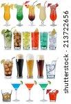set of drinks  cocktails  cola  ... | Shutterstock . vector #213722656