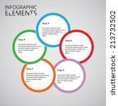 an infographic design with... | Shutterstock .eps vector #213732502