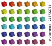 an illustration of 3d cube... | Shutterstock .eps vector #213732796
