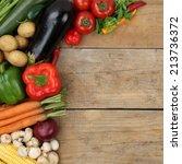 fresh vegetables like paprika... | Shutterstock . vector #213736372
