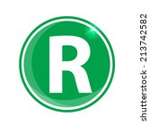 "alphabet ""r"" button | Shutterstock .eps vector #213742582"