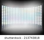 large multimedia screen. vector ...   Shutterstock .eps vector #213743818