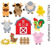 farm animal vector illustration | Shutterstock .eps vector #213750766