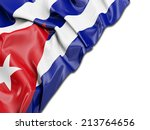 cuba wavy flag with white | Shutterstock . vector #213764656