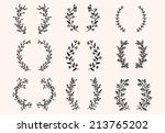 the set of hand drawn vector... | Shutterstock .eps vector #213765202