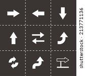 vector black arrows icons set...