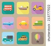transportation flat icons