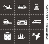 vector black logistic icons set ... | Shutterstock .eps vector #213779392