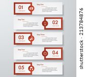 design clean number banners... | Shutterstock .eps vector #213784876