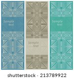 set of three vertical geometric ... | Shutterstock .eps vector #213789922