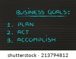 list of business goals to... | Shutterstock . vector #213794812