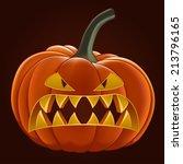 pumpkin for halloween  vector... | Shutterstock .eps vector #213796165