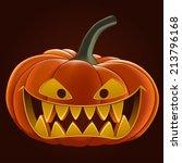 pumpkin for halloween  vector... | Shutterstock .eps vector #213796168