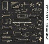 vintage doodle hand drawn... | Shutterstock .eps vector #213799666