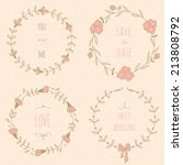 set of wedding wreaths. eps 10. ...   Shutterstock .eps vector #213808792
