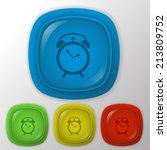 alarm clock sign   Shutterstock .eps vector #213809752