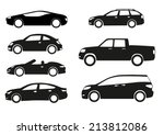 silhouette cars on a white... | Shutterstock .eps vector #213812086