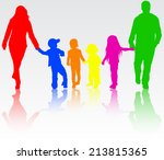 family together | Shutterstock .eps vector #213815365
