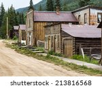 Old Wooden Houses Line The Main ...