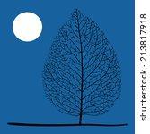tree and moon | Shutterstock . vector #213817918