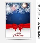 christmas snowflakes website... | Shutterstock .eps vector #213819856