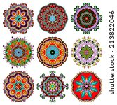 circle lace ornament  round... | Shutterstock . vector #213822046