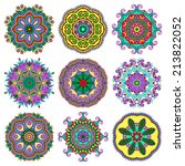 circle lace ornament  round...   Shutterstock . vector #213822052