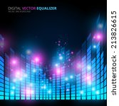 illustration of music equalizer ... | Shutterstock .eps vector #213826615
