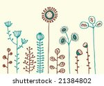 children drawing of flowers | Shutterstock .eps vector #21384802